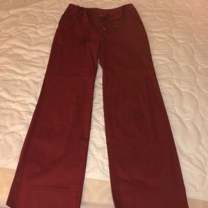 Anthropologie Wide Leg Belted Trouser